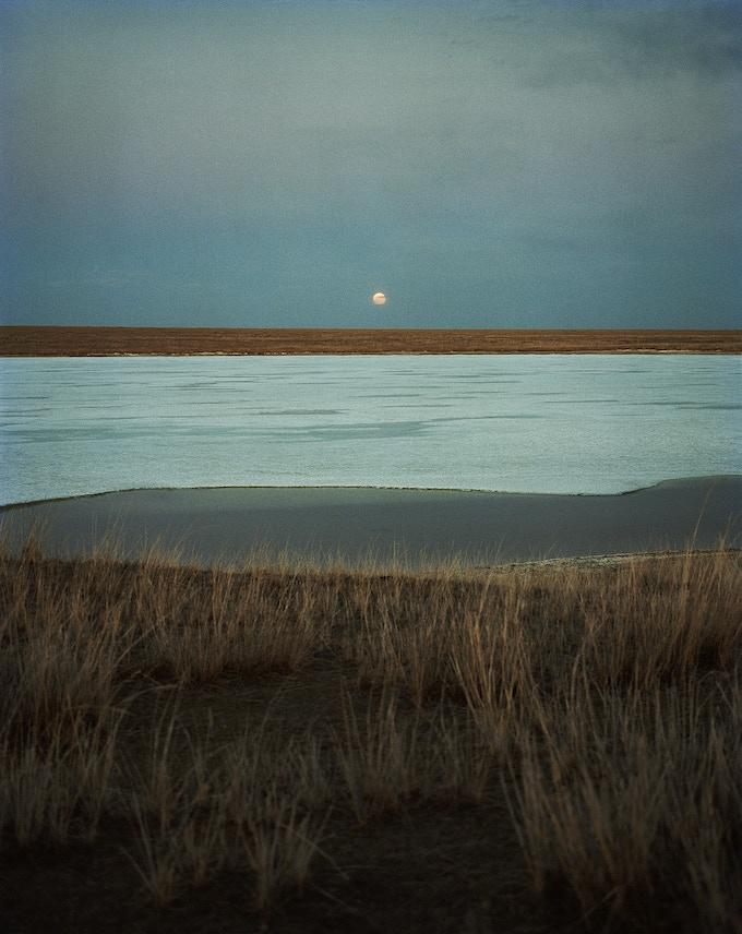 "Full Moon over Buir Lake (24x30"")"