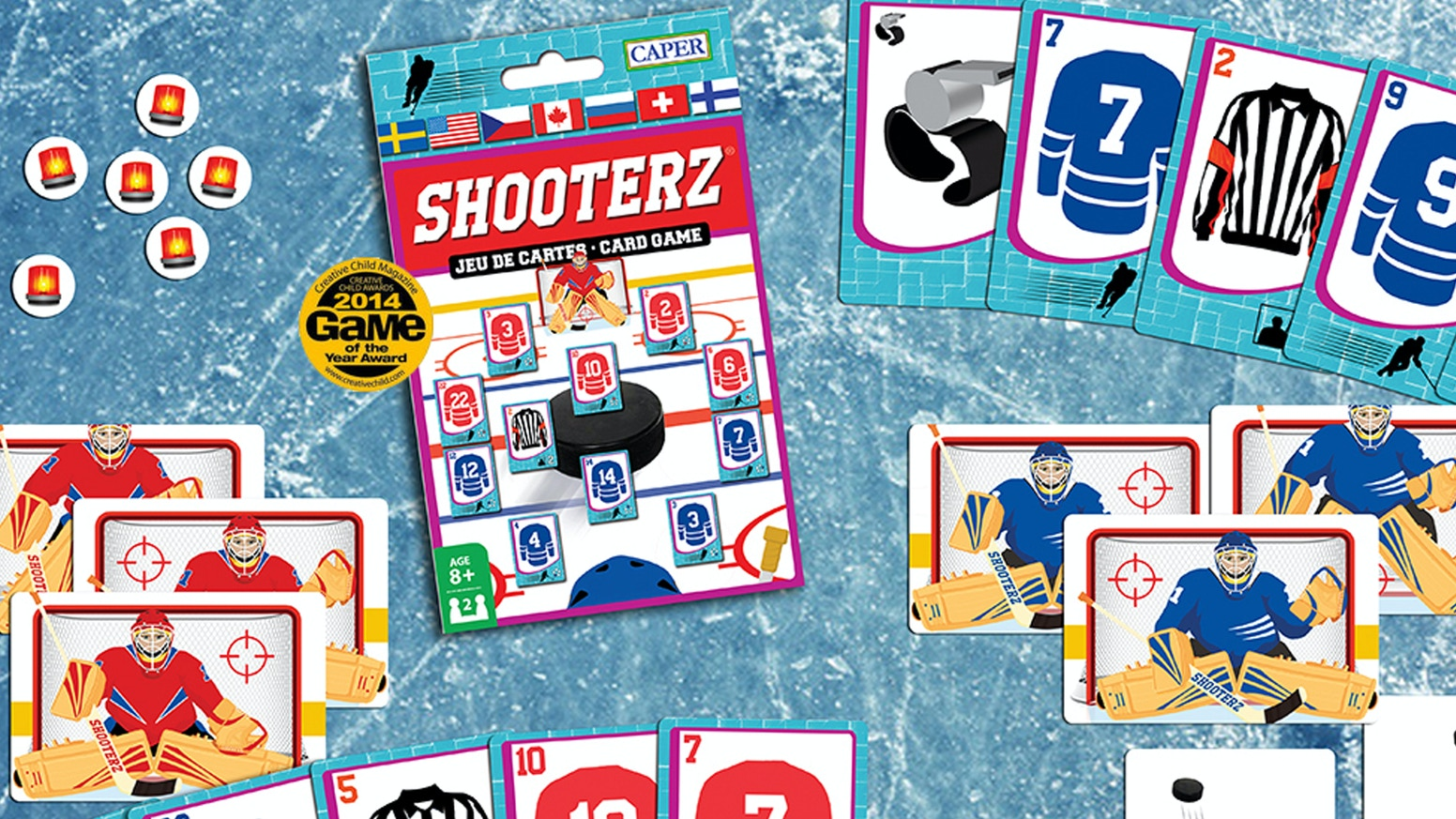 Shooterz Hockey Card Game Head 2 Head Hockey By Caper Games