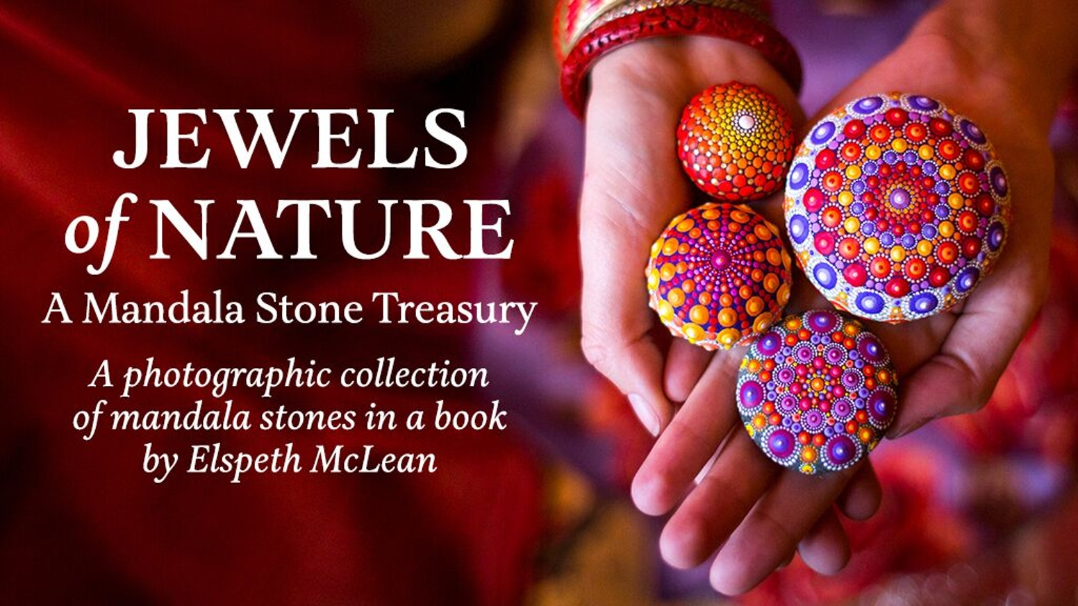 Elspeth McLean's gorgeous art book featuring mandala stones inspired by nature is now available!!
