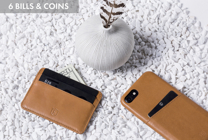 With a minimal footprint, this one-sided RFID protected wallet is perfect for anyone living a minimalist lifestyle (or anyone with tight jeans).