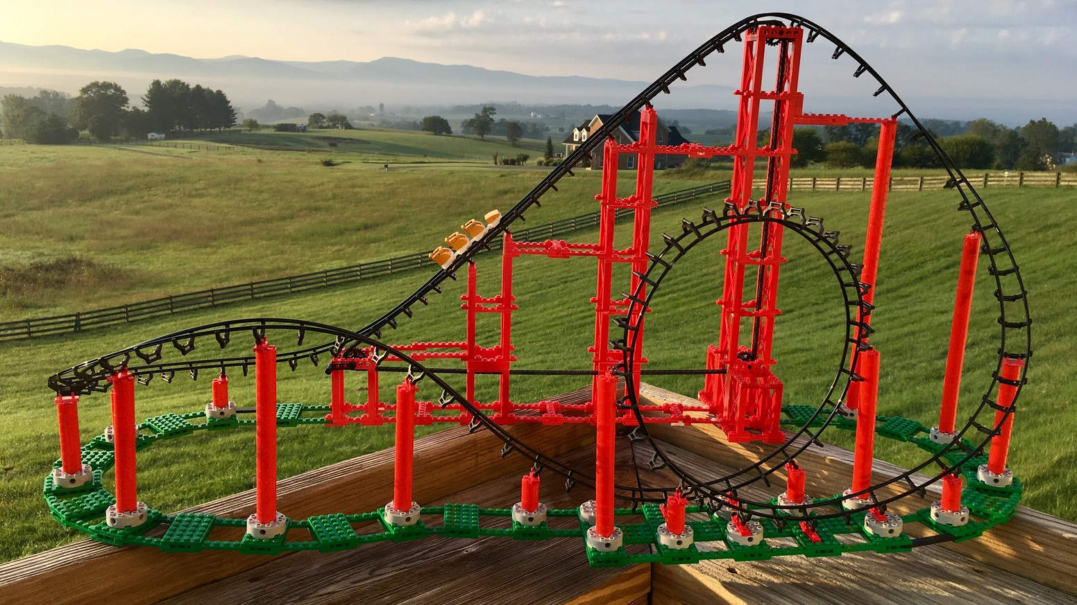 Working Roller Coaster Construction Toy