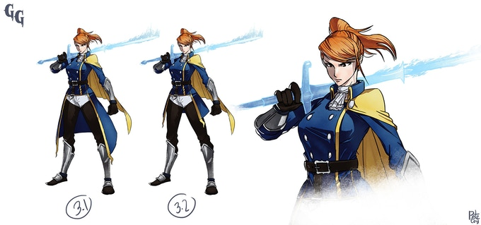Early concept art for Eliza