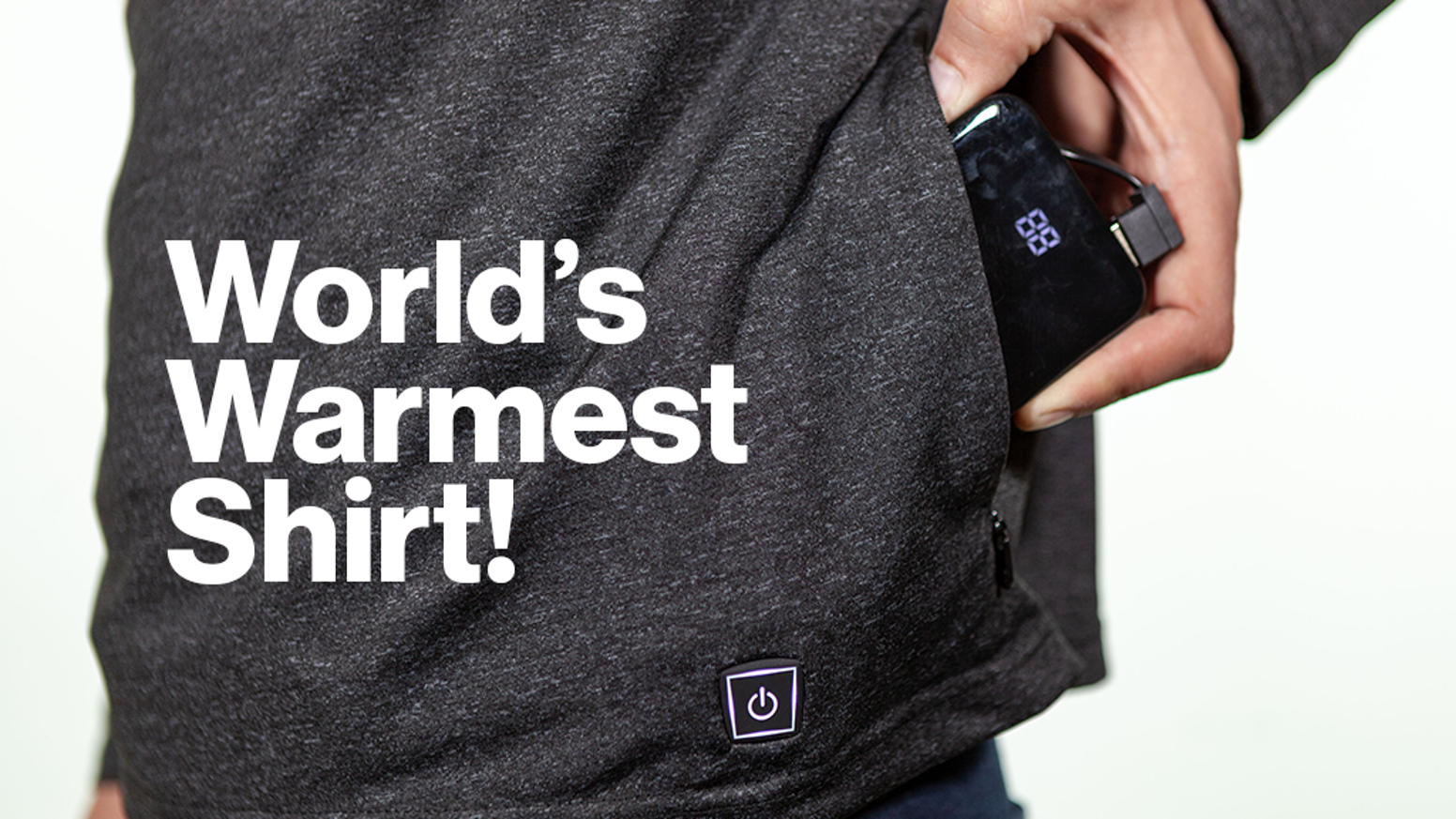 Heated shirt powered by a lightweight battery. Bring warmth with you wherever you go and forget worrying about how many layers to wear!