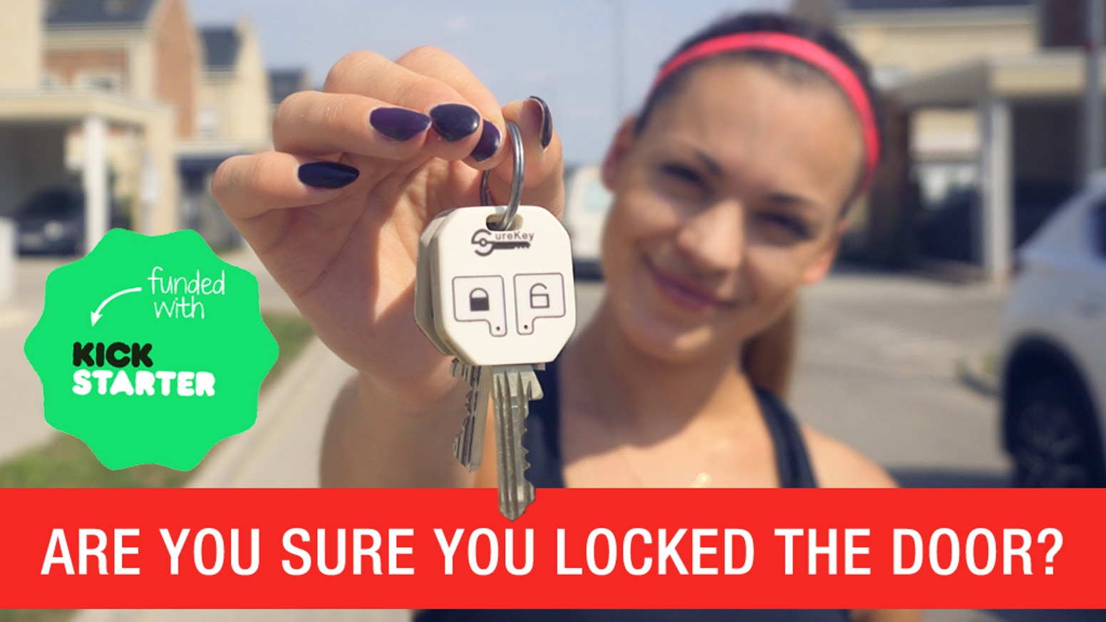 A PERFECT solution to  everyday problems. SureKey reminds you whether or not your door is locked and helps you track your keys.