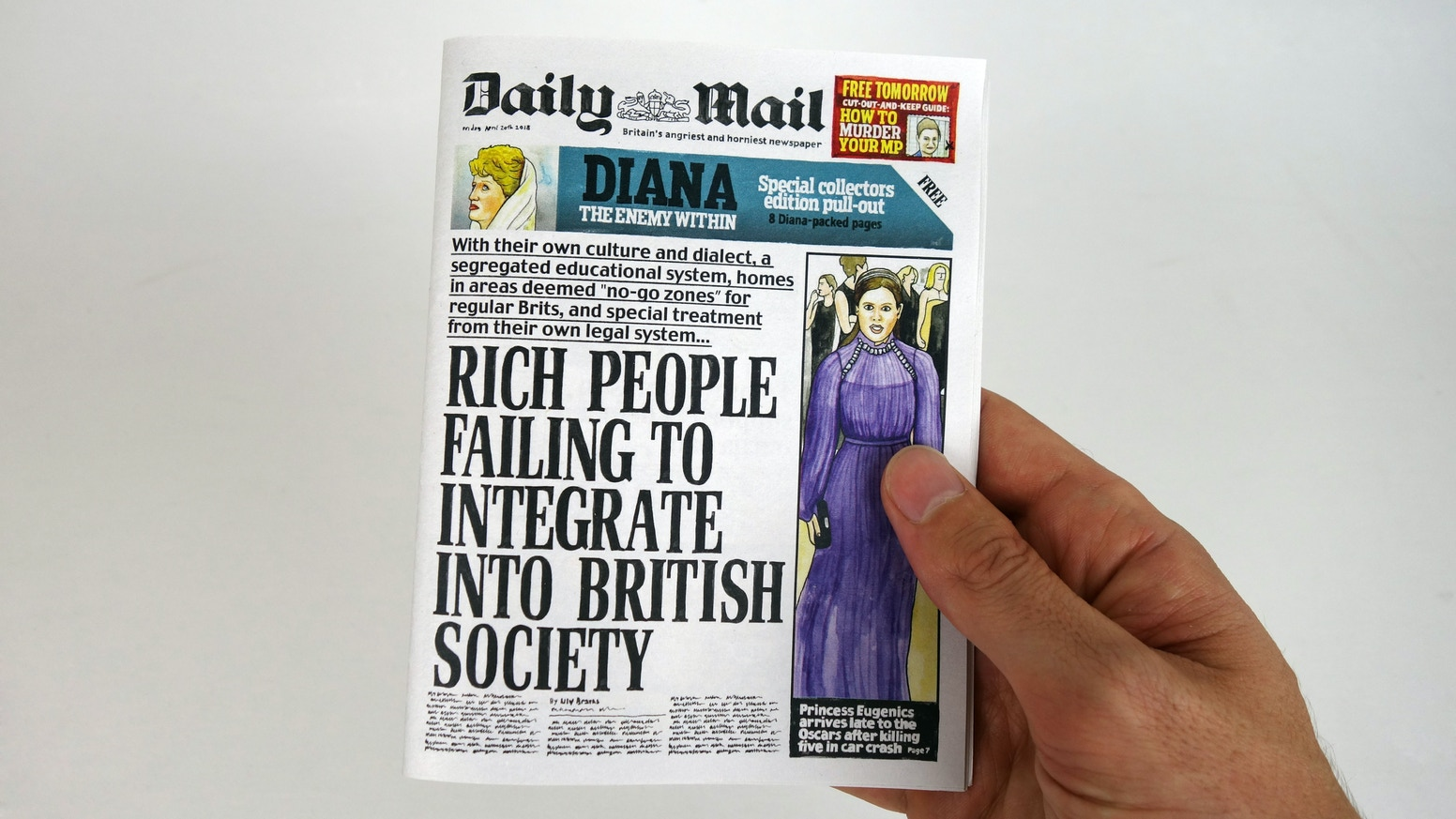 A miniature, boiled-down version of the full paper, it's like the Daily Mail, but distilled to its angry, horny core.