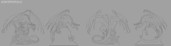 Klauth™ Statue Turnaround. © 2018 Wizards of the Coast and PCS Collectibles