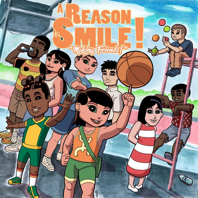 """The front cover of """"A Reason to Smile!: Making Friends!"""""""