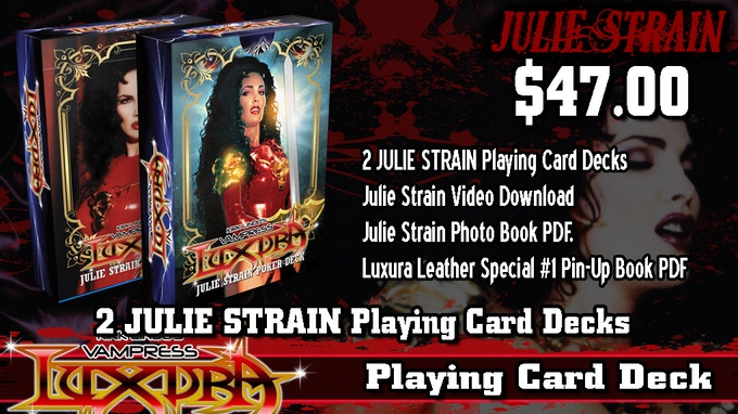Luxura JULIE STRAIN Playing Cards, Video & Photo Book! by