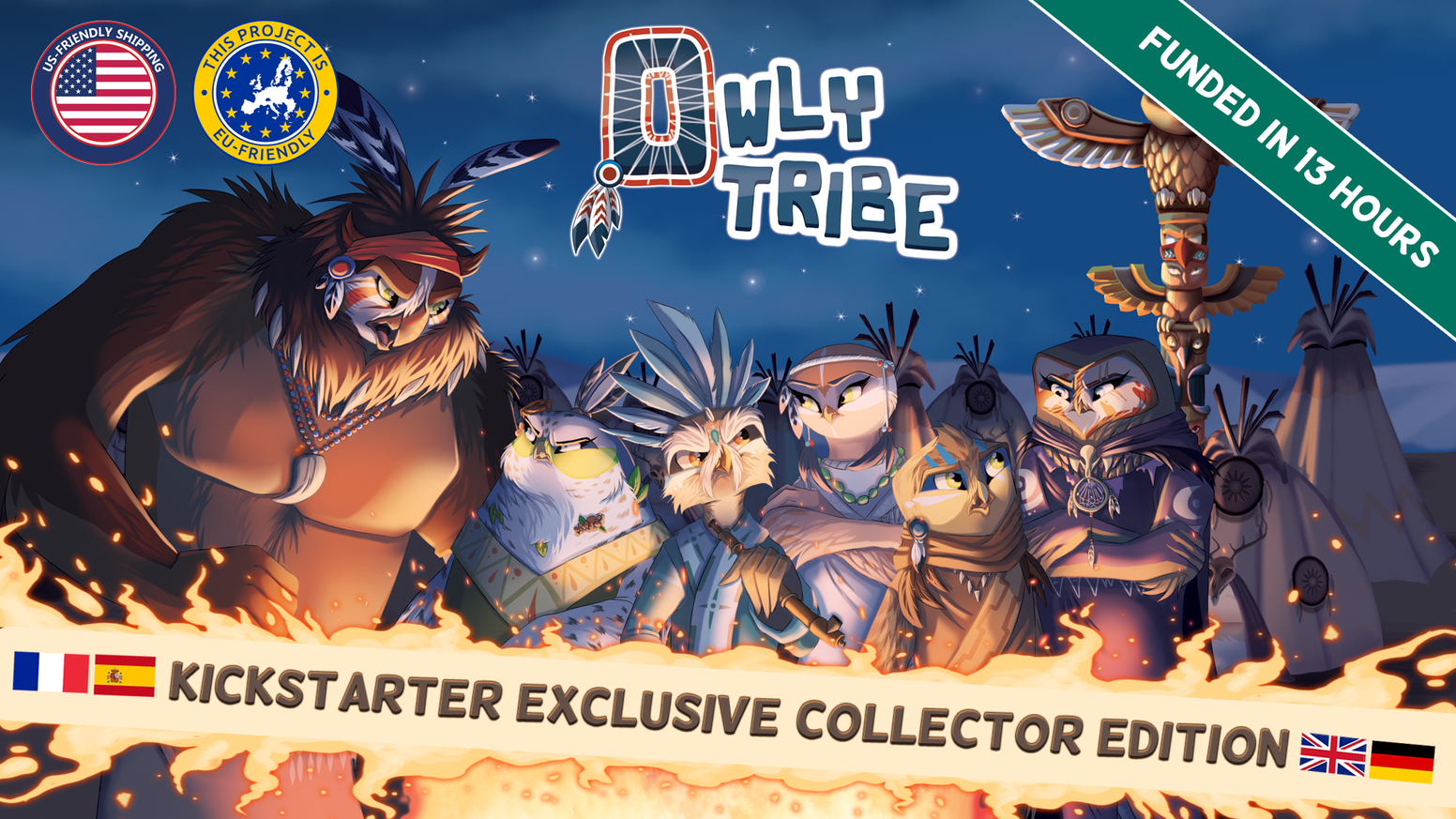 Owly Tribe : a strategic dice-worker placement majority game. Fast paced and dirty tricks.