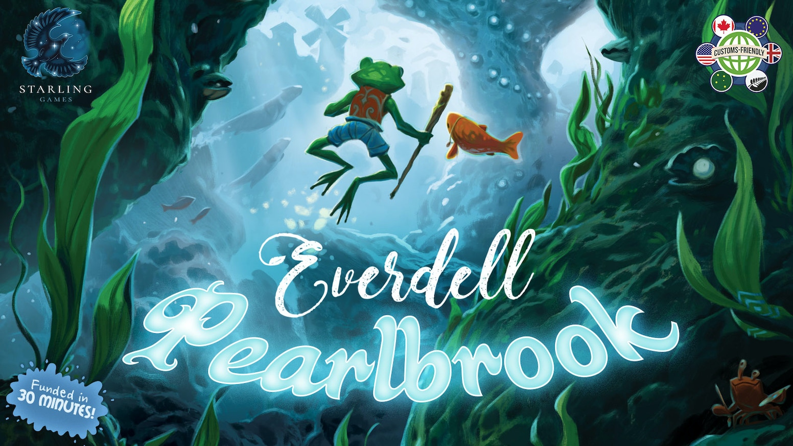 Discover a new world under the river in Pearlbrook, the first expansion for Everdell.