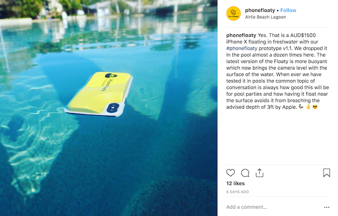 The Phone Floaty Will Float In Both Salt & Fresh Water