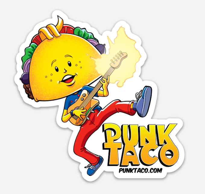 Punk Taco Sticker #1