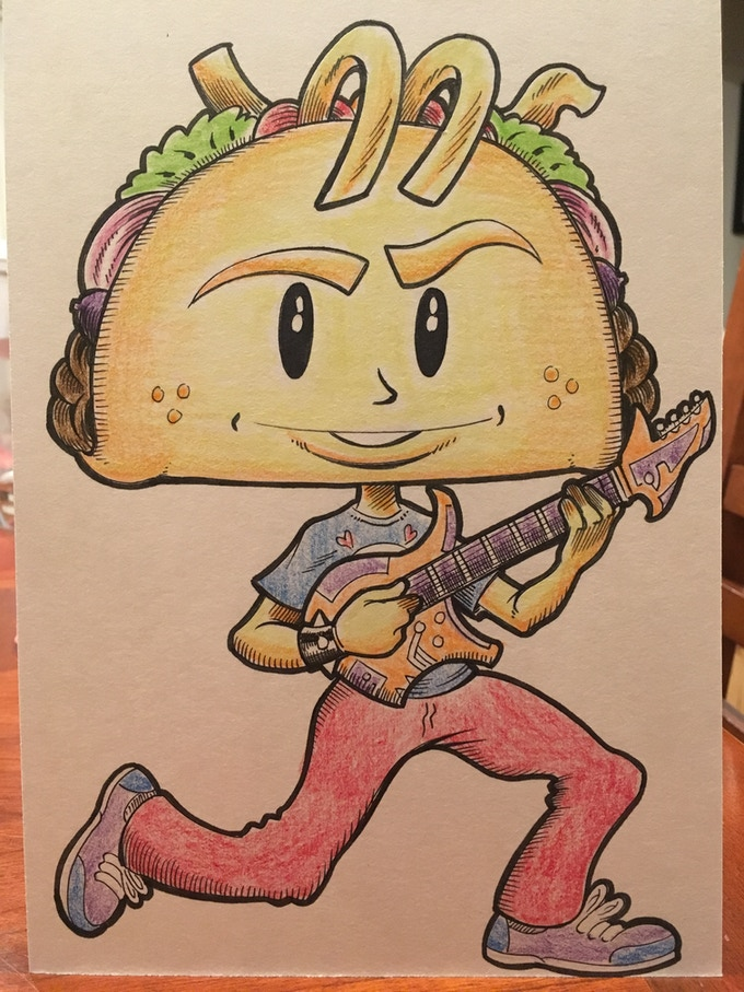 Punk Taco Original Color Sketch Sample