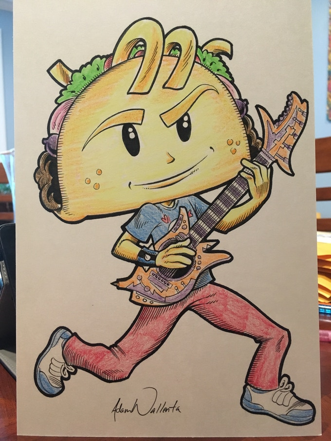 Punk Taco Rocking Out