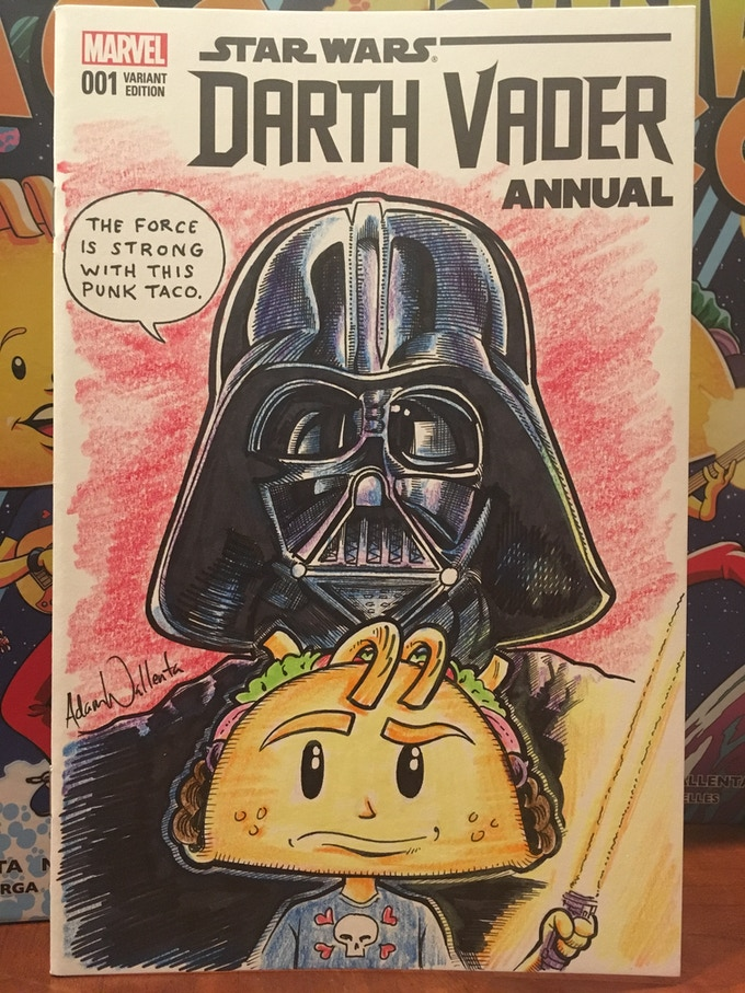 Darth Vader vs Punk Taco Sketch Cover SAMPLE