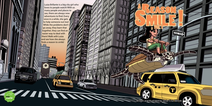 """The front ant back cover of Volume 1 of """"A Reason to Smile!"""
