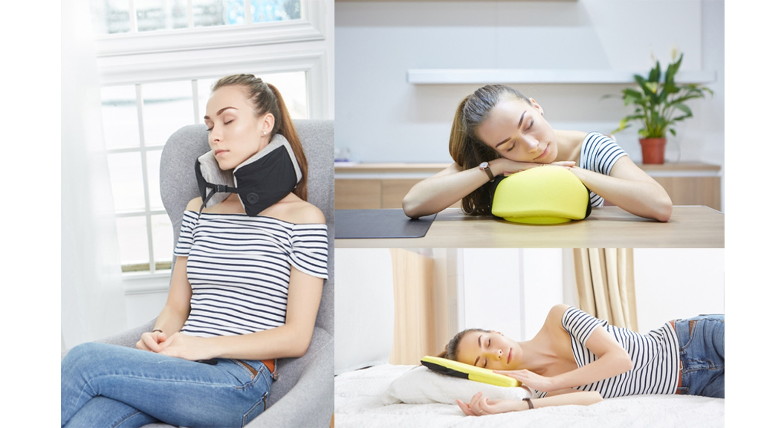 Sleep and rest effortless than ever before with the portable, relaxing, and multifunctional Comfy Travel Pillow.
