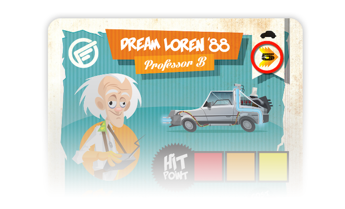 For example, Professor B can move up to 5 spots with his Dream Loren '88