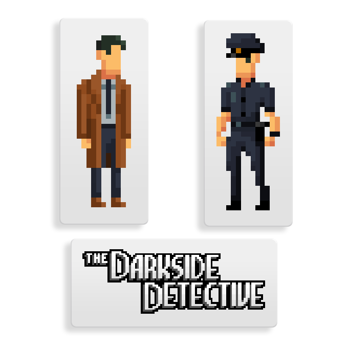 Stick it on your laptop, your school books or that angry child who's always looking funny at you in the mall. However you do it, let the world know you're a fan of The Darkside Detective. How else will evil know to leave you alone?