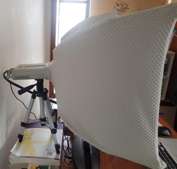 George's SPUD setup, taking advantage of the tripod mount.