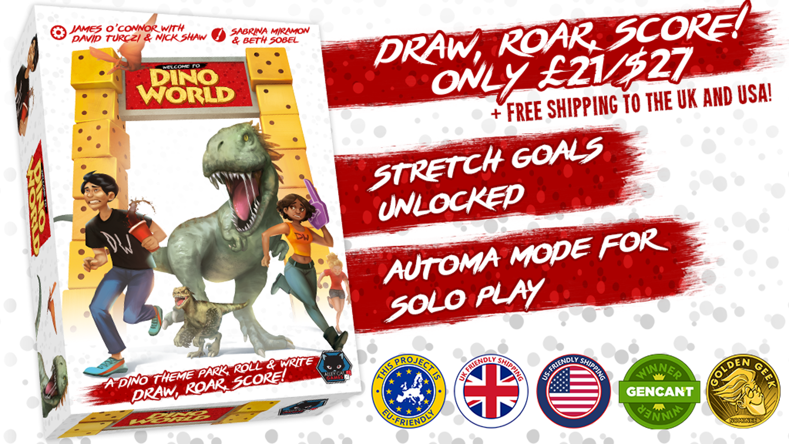 Draw, Roar, Score! Take control of competing dinosaur theme parks in this medium weight roll and write game.