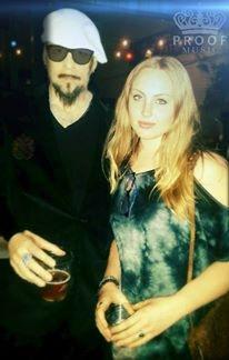 John Custer + me at an open mic night