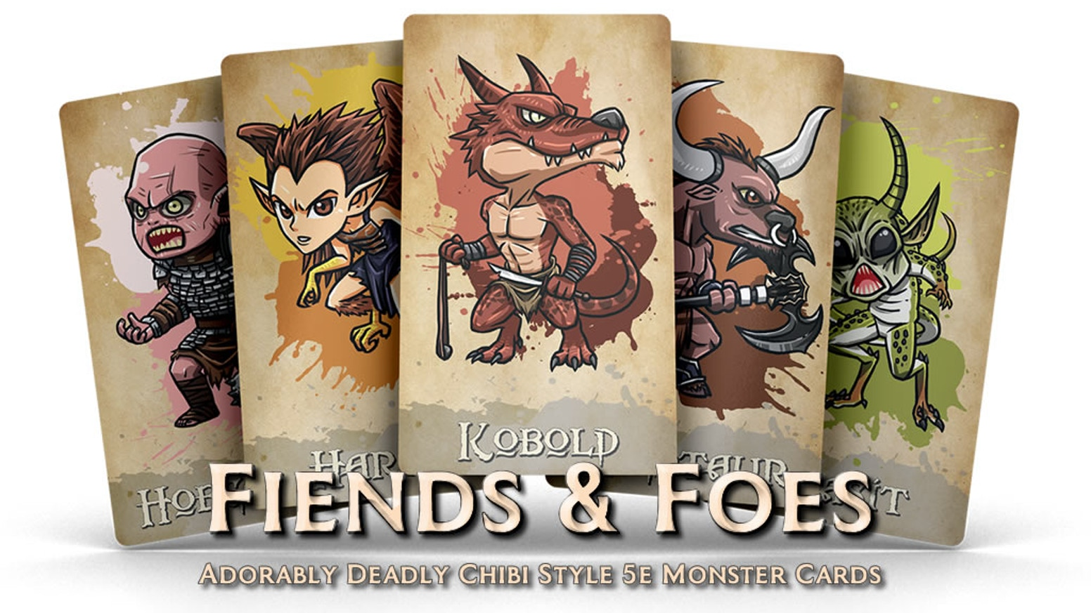 Fiends & Foes - Adorably Deadly Chibi Style 5e Monster Cards