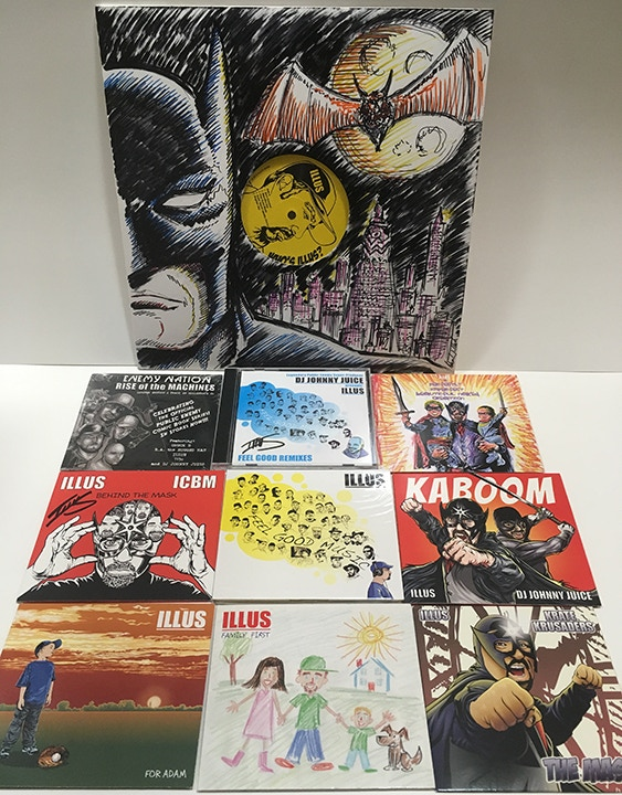 The ILLUS Discography + Batman LP Art Reward! If you love HIPHOP and original art this is the reward  for you! My entire discography of music from 2006 to present with an original hand illustrated limited edition 12in LP cover of Batman!