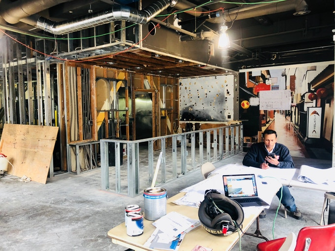 the coffee shop area in progress!
