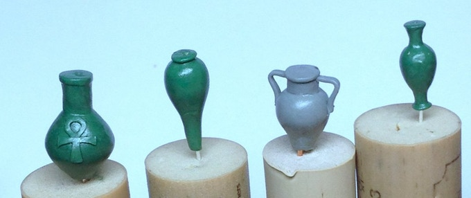£8000 - Egyptian Vases sculpted by Kev Adams.  UNLOCKED!  Now available as an add-on for £3.