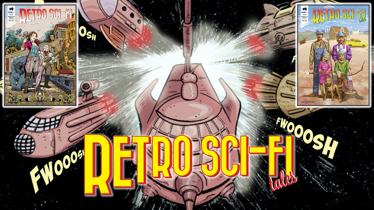 Retro Sci-Fi Tales - anthology comics, old-school style 'retro' science fiction stories, amazing fun! Family friendly, aimed at adults.