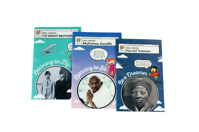 Stories of historical heroes teach kids that real people can use their superpowers to make a difference in the world.