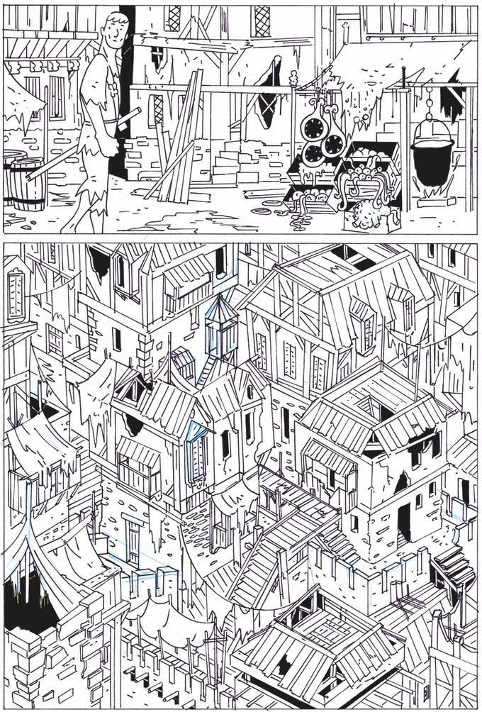 An original - uncolored page.