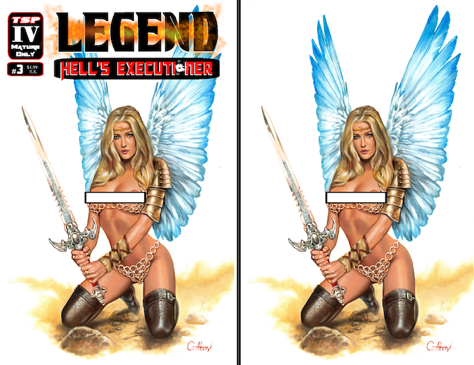 Legend: Hell's Executioner #3 Cover C (Limited to 125) & Cover D (Limited to 25) Artwork by Claudio Aboy (Heavy Metal Magazine/DC Comics/Star Wars)