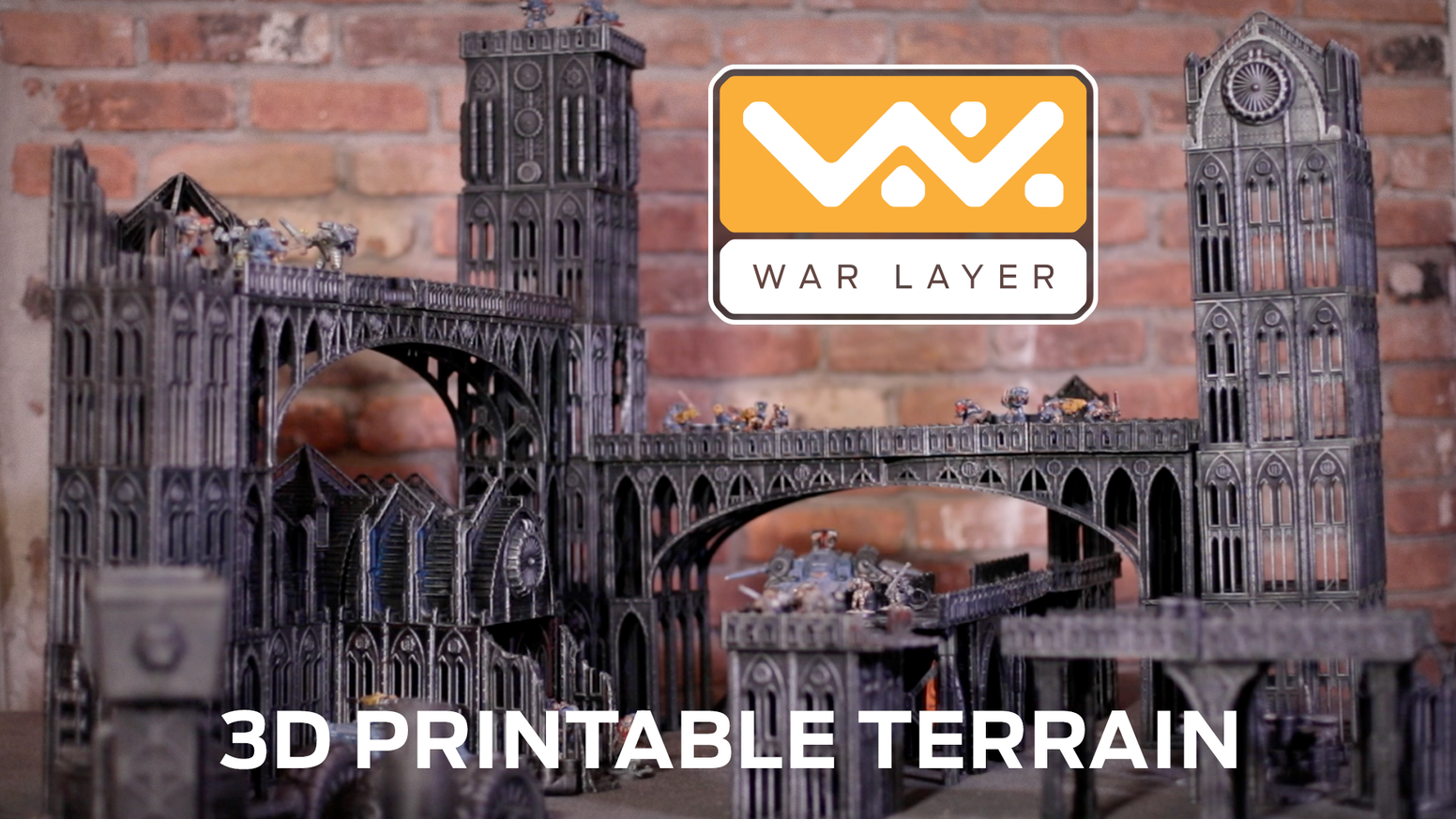 3D Printable Gothic City War-Zone. Wargaming terrain guaranteed to print without supports. Print, Paint and Play.