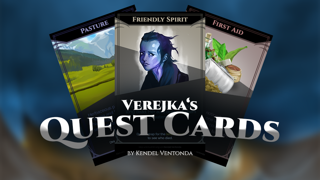 Verejka's Quest Cards - For Many Tabletop Games!