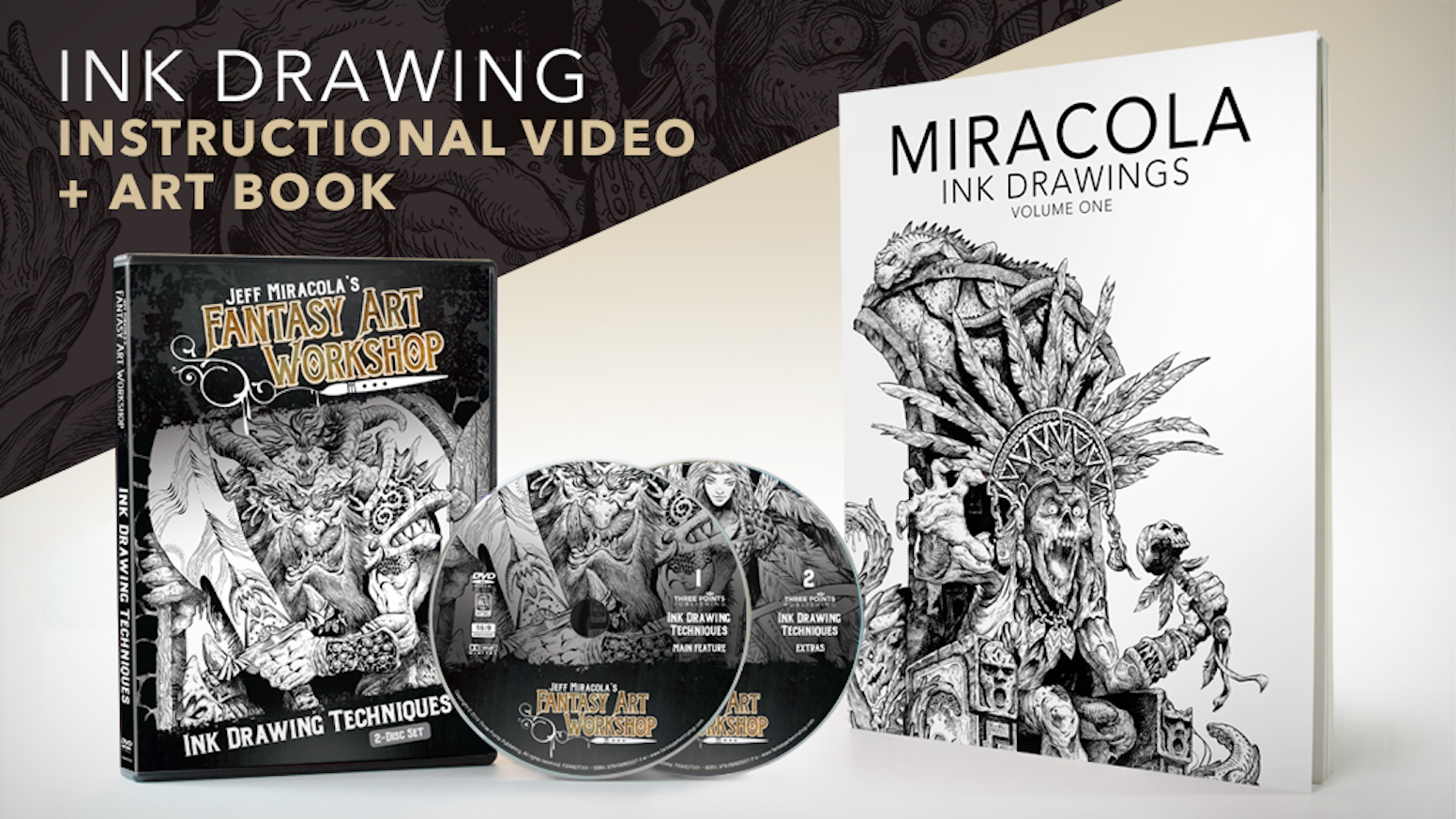 Jeff Miracola S Ink Drawing Instructional Video Art Book By Three
