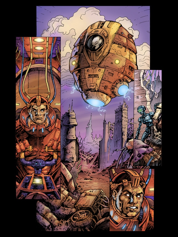 Conceptual Comic Page.
