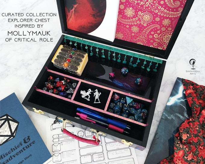 Curated Collection Explorer Chest Inspired by Mollymauk Tealeaf of Critical Role