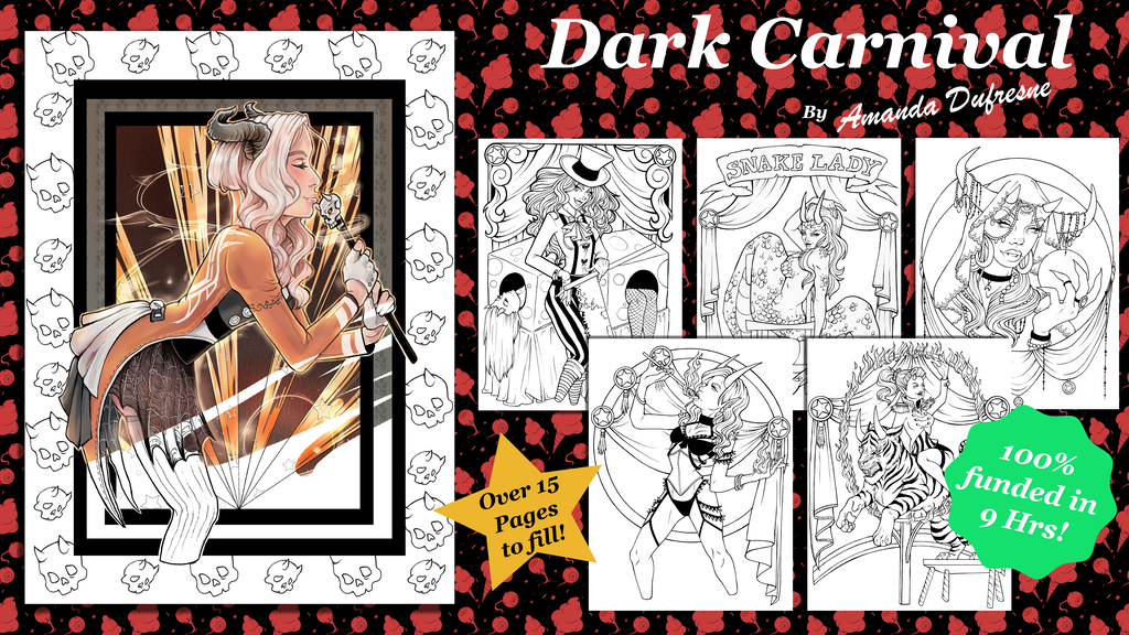 Dark Carnival: Coloring Book
