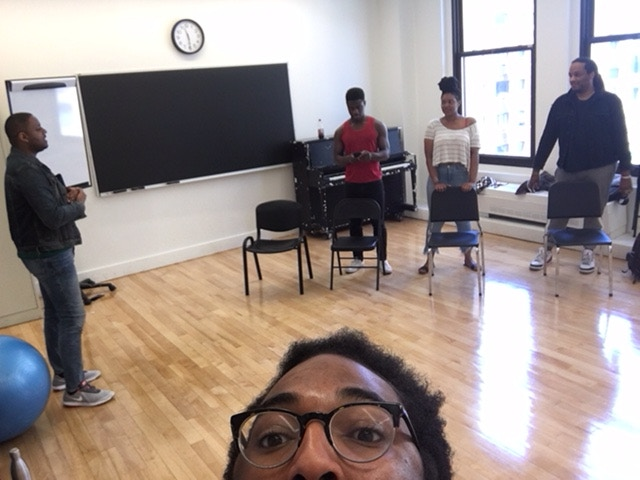 Rehearsal for Dixon Place in May 2018