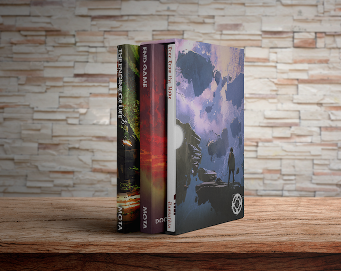 Slipcase mockup - books not to scale!