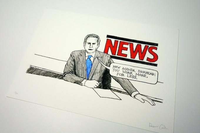 News Agenda - Limited edition print
