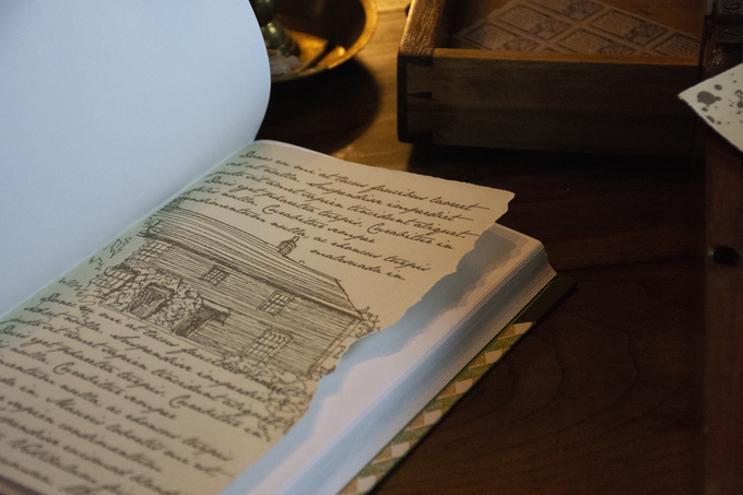 """Sketches from """"Elizabeth Bennet's Sketchbook"""" are bound into the volume . . ."""