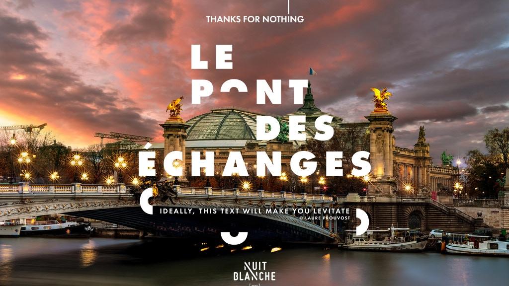Le Pont des échanges // Nuit Blanche Paris 2018 project video thumbnail