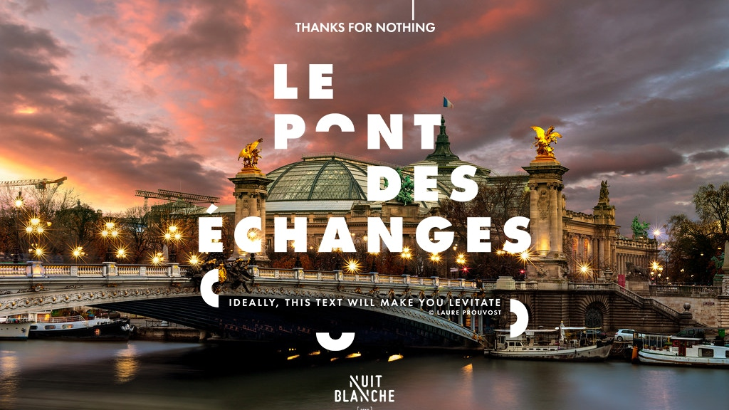 Le Pont des échanges // Nuit Blanche Paris 2018 project video thumbnail