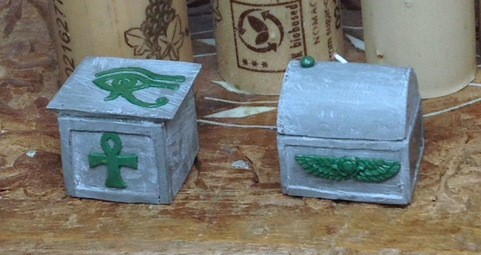 £9000  Egyptian Chests sculpted by Kev Adams.  UNLOCKED!  Now available as an add-on for £4.