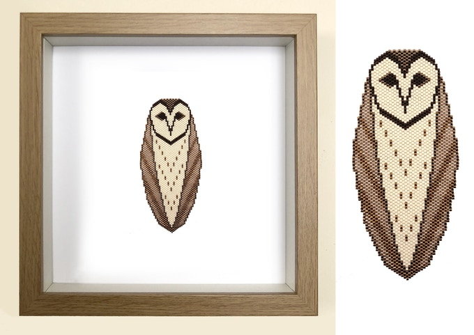 WHAT A HOOT & THE BARN OWL REWARDS - available as a Beading kit or wall art