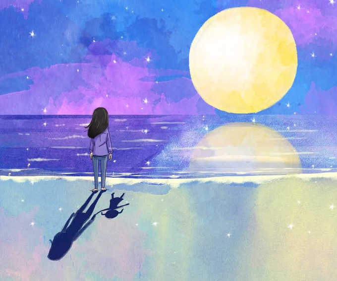 The Little Girl Who Wanted To Go To The Ocean To See The Moon