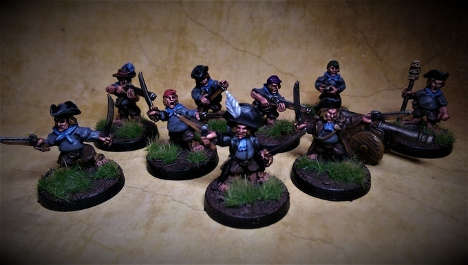 Halfling Crew Comes With Cannon £20